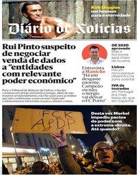 capa Diário de Notícias de 7 fevereiro 2020