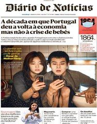 capa Diário de Notícias de 8 fevereiro 2020