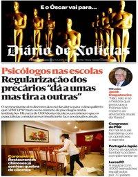 capa Diário de Notícias de 10 fevereiro 2020