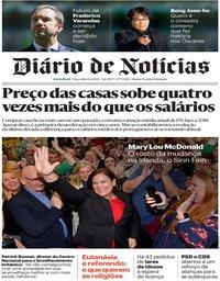 capa Diário de Notícias de 11 fevereiro 2020