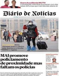 capa Diário de Notícias de 12 fevereiro 2020