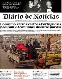 capa Diário de Notícias de 18 fevereiro 2020