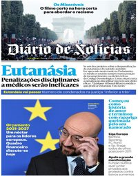 capa Diário de Notícias de 20 fevereiro 2020