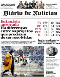 capa Diário de Notícias de 21 fevereiro 2020