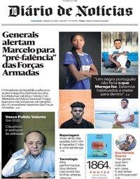capa Diário de Notícias de 22 fevereiro 2020