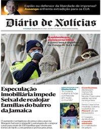 capa Diário de Notícias de 24 fevereiro 2020