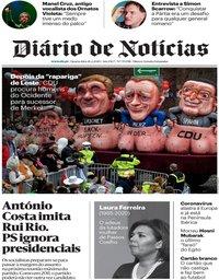 capa Diário de Notícias de 26 fevereiro 2020