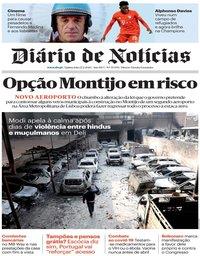 capa Diário de Notícias de 27 fevereiro 2020