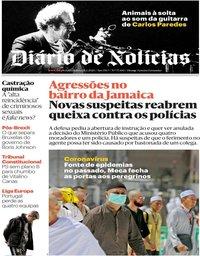 capa Diário de Notícias de 28 fevereiro 2020