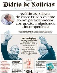 capa Diário de Notícias de 29 fevereiro 2020