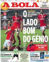 capa Jornal A Bola de 1 fevereiro 2020
