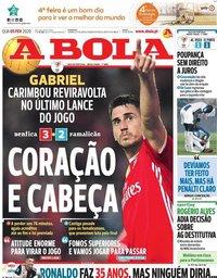 capa Jornal A Bola de 5 fevereiro 2020