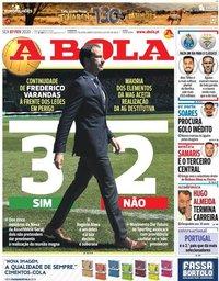 capa Jornal A Bola de 7 fevereiro 2020