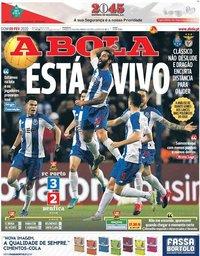 capa Jornal A Bola de 9 fevereiro 2020