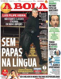 capa Jornal A Bola de 11 fevereiro 2020