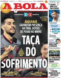 capa Jornal A Bola de 12 fevereiro 2020