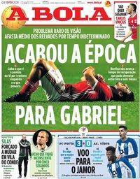 capa Jornal A Bola de 13 fevereiro 2020