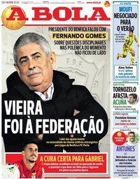 capa Jornal A Bola de 14 fevereiro 2020