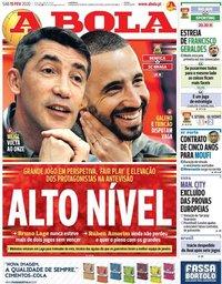 capa Jornal A Bola de 15 fevereiro 2020