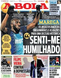 capa Jornal A Bola de 18 fevereiro 2020