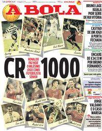 capa Jornal A Bola de 22 fevereiro 2020