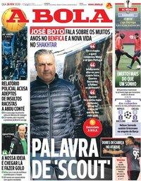 capa Jornal A Bola de 26 fevereiro 2020