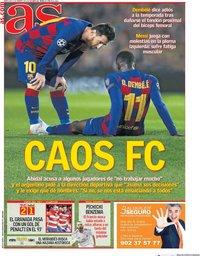 capa Jornal As de 5 fevereiro 2020