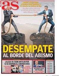 capa Jornal As de 29 fevereiro 2020