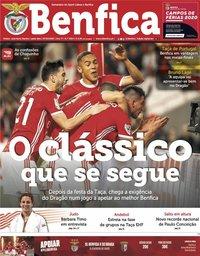 capa Jornal Benfica de 7 fevereiro 2020