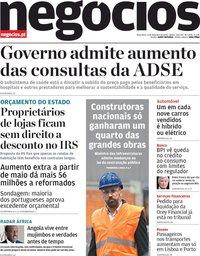 capa Jornal de Negócios de 4 fevereiro 2020