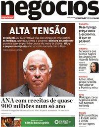 capa Jornal de Negócios de 6 fevereiro 2020