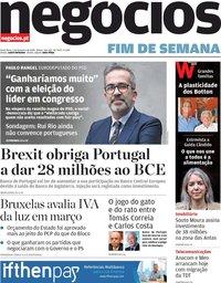 capa Jornal de Negócios de 7 fevereiro 2020