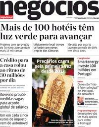 capa Jornal de Negócios de 12 fevereiro 2020