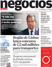 capa de Jornal de Negócios