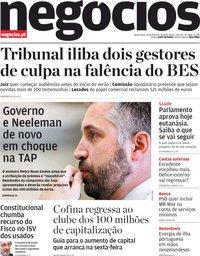 capa Jornal de Negócios de 20 fevereiro 2020