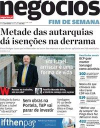 capa Jornal de Negócios de 21 fevereiro 2020