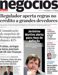 capa Jornal de Negócios de 24 fevereiro 2020