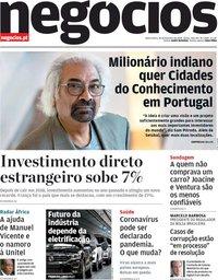 capa Jornal de Negócios de 26 fevereiro 2020