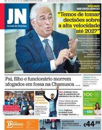 capa Jornal de Notícias de 2 fevereiro 2020