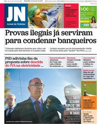 capa Jornal de Notícias de 4 fevereiro 2020