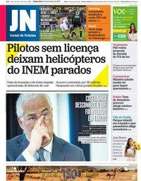 capa Jornal de Notícias de 6 fevereiro 2020