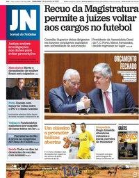 capa Jornal de Notícias de 7 fevereiro 2020