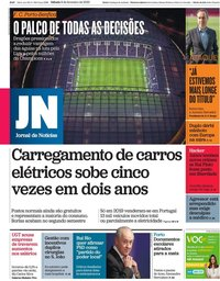 capa Jornal de Notícias de 8 fevereiro 2020