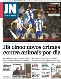 capa Jornal de Notícias de 9 fevereiro 2020