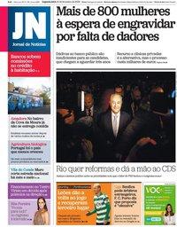 capa Jornal de Notícias de 10 fevereiro 2020