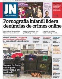 capa Jornal de Notícias de 11 fevereiro 2020