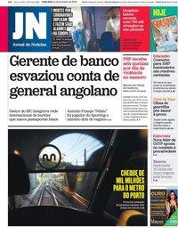 capa Jornal de Notícias de 14 fevereiro 2020