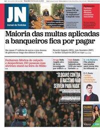 capa Jornal de Notícias de 18 fevereiro 2020