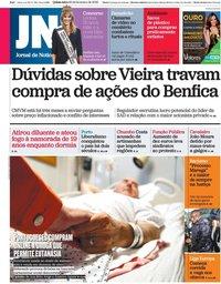 capa Jornal de Notícias de 20 fevereiro 2020