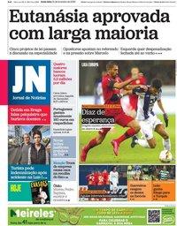 capa Jornal de Notícias de 21 fevereiro 2020